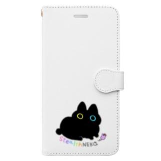 ステルスねこのスマホケース Book-style smartphone case