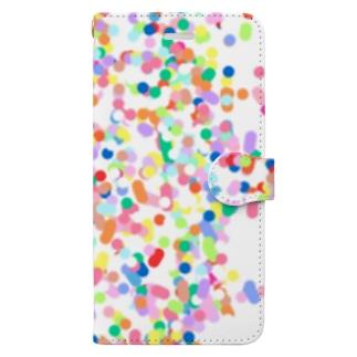 カラフルドット Book-style smartphone case