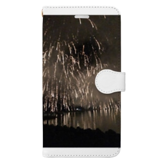 花火景色 Book-style smartphone case
