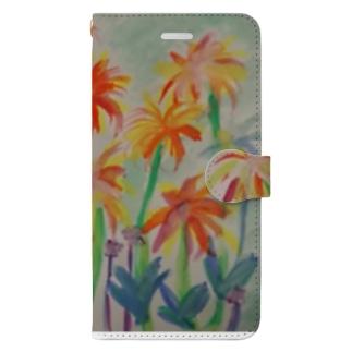 みなみの島の花 Book-style smartphone case