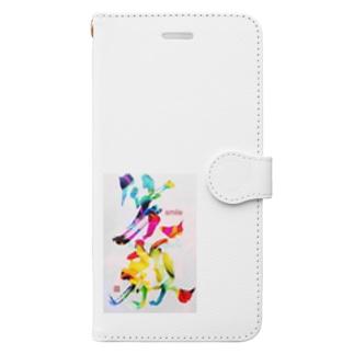 笑顔で過ごそう Book-style smartphone case