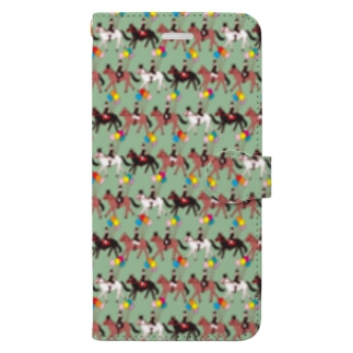 馬術カーニバル Book-style smartphone case