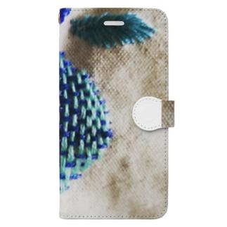 刺繍 りんご Book-style smartphone case