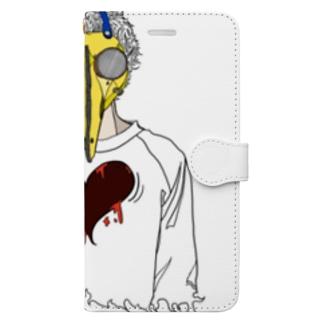 トクメイ社会 Book-style smartphone case