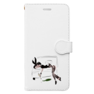 Drunk bunny girl Book-style smartphone case