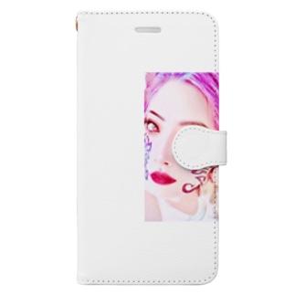 クレイドールのクレ子フェイス紋章入り Book-style smartphone case
