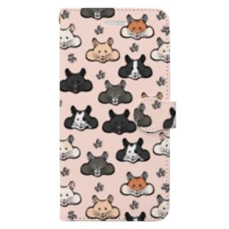 顔面ハムちゃん Book-style smartphone case
