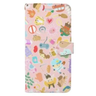 たのしいピンク Book-style smartphone case
