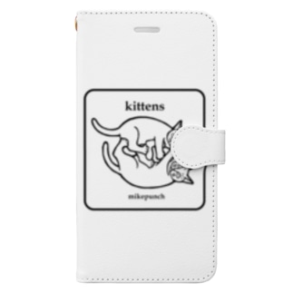 kittens あそぶ子猫さん Book-style smartphone case
