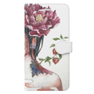 花を吐く Book-style smartphone case