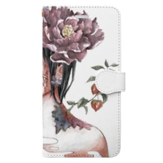 花を吐くdark Book-style smartphone case