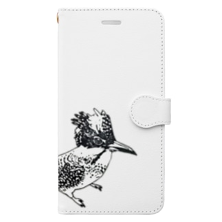 キリッとしたヤマセミ Book-style smartphone case
