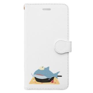 ぱふんぱふんジンベイケーキ Book-Style Smartphone Case