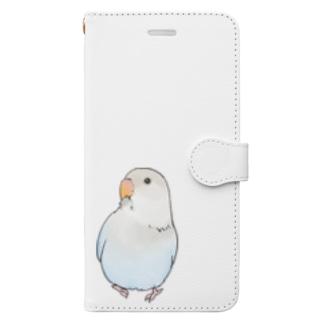 おすましコザクラインコ らむねちゃん【まめるりはことり】 Book-style smartphone case