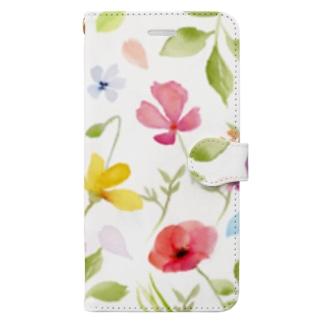 水彩花 Book-style smartphone case