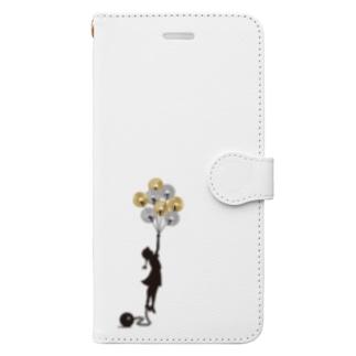 どっちにしても苦しい Book-style smartphone case