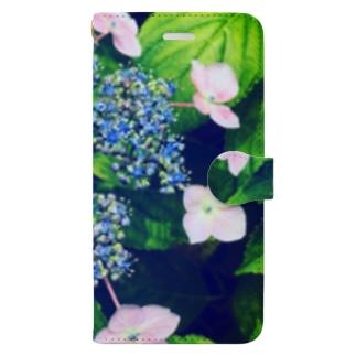 ガクアジサイ Book-style smartphone case