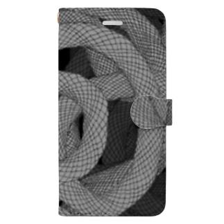 蛇柄 Book-style smartphone case