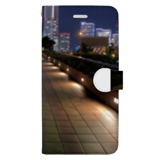 横浜 Book-style smartphone case