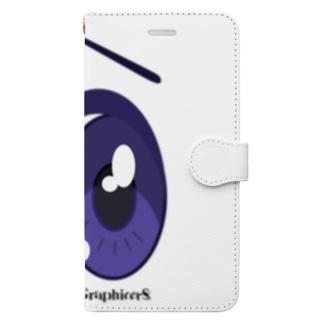 Cartoon Eye Book-style smartphone case