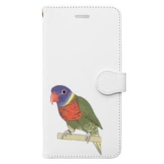 色合いが綺麗なゴシキセイガイインコちゃん【まめるりはことり】 Book-style smartphone case