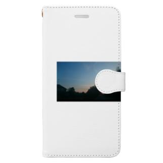 飛行機雲in田舎 Book-style smartphone case