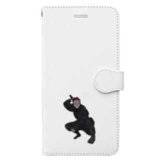 忍者・キツネ面 Book-style smartphone case