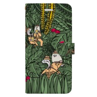 アキラとジャッキー(ジャングル) Book-style smartphone case