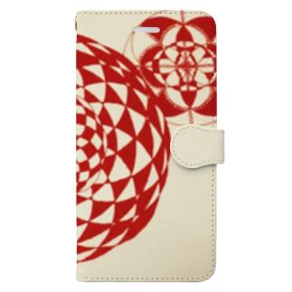 シンプル曼荼羅 ( 赤 ) Book-style smartphone case
