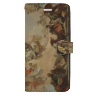 【世界の名画】ティエポロ『惑星と大陸の寓意画 』 Book-style smartphone case