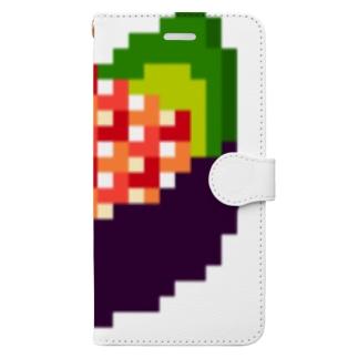 ドッド絵 いくら軍艦 Book-style smartphone case