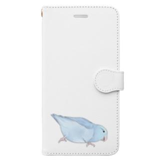 まめるりはことりのマメルリハ もちふりちゃん【まめるりはことり】 Book-style smartphone case