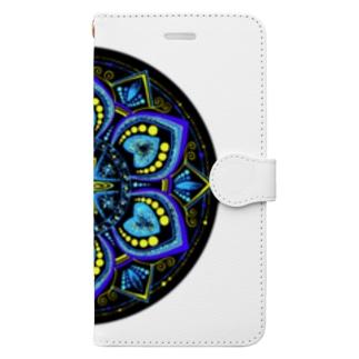 青の世界−丸ver. Book-style smartphone case