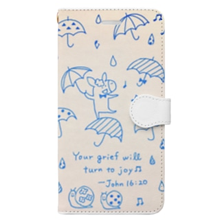 Donkey in the Rain Book-style smartphone case