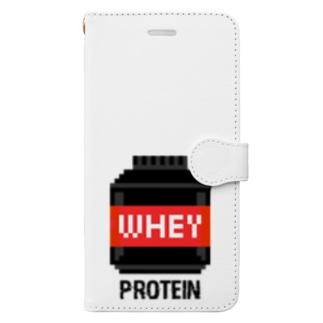 ホエイプロテイン Book-style smartphone case