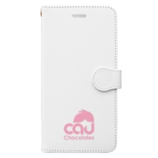CAUカカオ・チャレンジ Book-style smartphone case