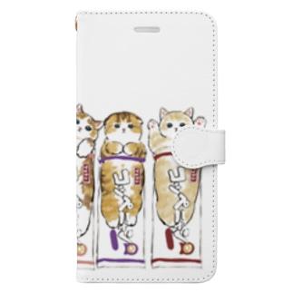 コッペにゃん Book-style smartphone case