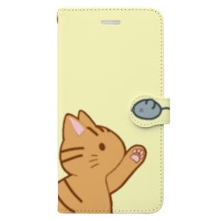 ネズミさんにゃー 茶トラ Book-style smartphone case