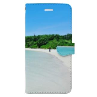 夏の海2 Book-style smartphone case