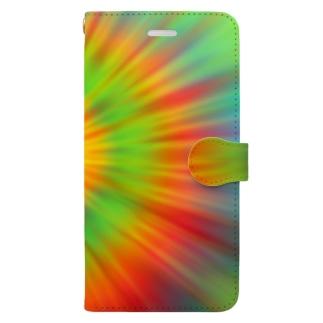 サイケデリック Book-style smartphone case