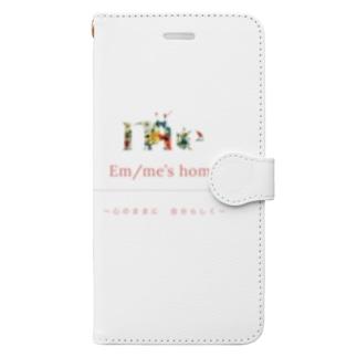 em/me's home 〜心のままに 自分らしく〜 Book-style smartphone case
