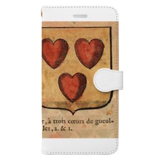フランスの紋章 Book-style smartphone case
