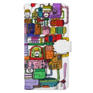 ハートの飛行船 Book-style smartphone case