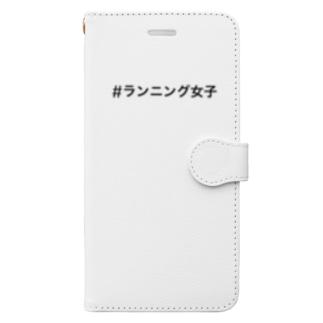 #ランニング女子 Book-Style Smartphone Case