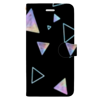 三角形(黒) Book-style smartphone case