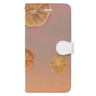 夕焼けオレンジ Book-Style Smartphone Case