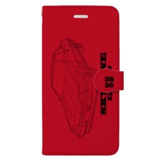 スカイラインDR30赤黒 Book-style smartphone case