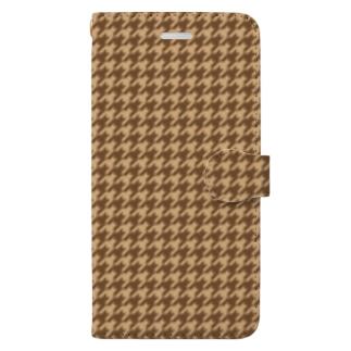 千鳥格子(テーマ:コーヒークッキー) Book-style smartphone case