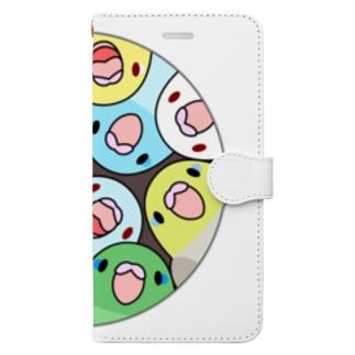 まめるりはことりの三密です!むちむちマメルリハさん【まめるりはことり】 Book-style smartphone case