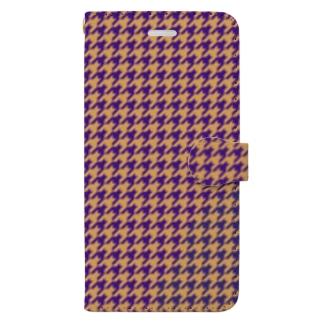 千鳥格子(テーマ:レーズンサンド) Book-style smartphone case